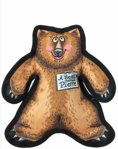 A Bear Named Pierre Small Dog Toy -  Wild Woodies