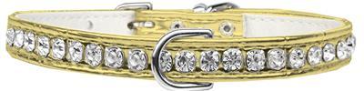 Beverly Style Rhinestone Designer Croc Dog Collar