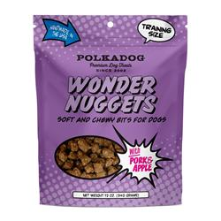Wonder Nuggets with Pork & Apple 12 oz bag by Polka Dog