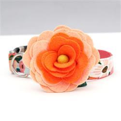 Orange Magnolia Dog Collar Flower
