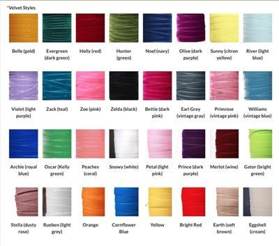 1.5 Inch Wide Velvet Dog Collar (32 Velvet Colors)