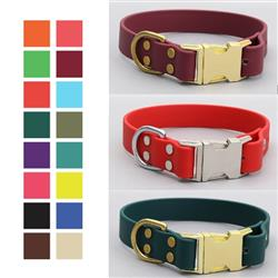 Waterproof Quick Release Dog Collar | Stink Proof Leather Alternative Dog Collar (16 Colors)