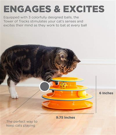 Petstages™ Tower Of Tracks Toy
