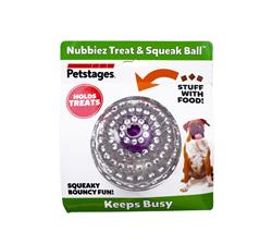 Petstages™ Nubbiez Treat n Squeak Ball