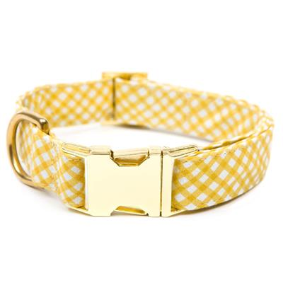 Daffodil Gingham Dog Collar