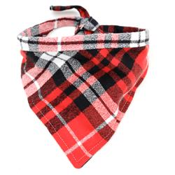 Flannel PJs Plaid Dog Bandanas