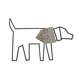 Leopard / Stripe Reversible Bandana