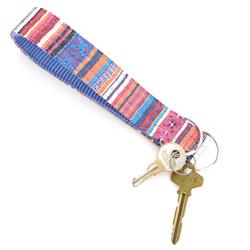 Playa Beach Blanket Key Chain Wristlet Fob