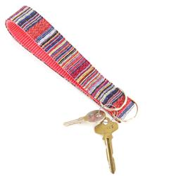 Viva Beach Blanket Key Chain Wristlet Fob