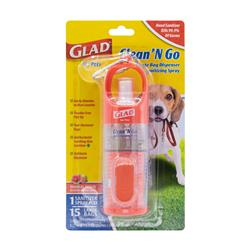 GLAD Clean & Go Wastebag Dispenser + Sanitizing Spray