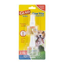 GLAD Sanitizing Spray Refills-2Pk for Clean & Go Waste bag dispenser