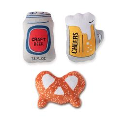 Beer Small Dog Toys - Set Of 3