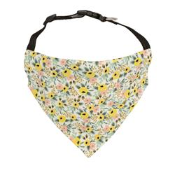 Floral Bandana Yellow Rose Flower Dog Bandana | Spring Dog Bandana