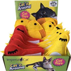 Felt Bird / Felt Fish Assorted Cat Toy Display Tray (18 units)