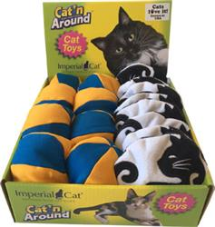 Beach Ball / Yin Yang Assorted Cat Toy Display Tray (16 units)