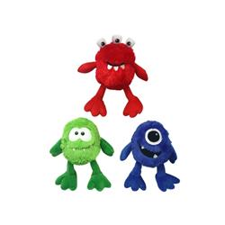 "9"" Plush Monster  with Large Squeaker (assorted colors) by Multipet"