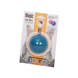 "LED Cat Ball - BLU, LED Cat Toy W/Battery, 2.5""x2.5""x2.5"""
