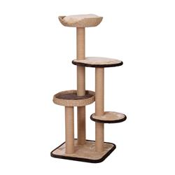 "Petpals Treehouse 54"" 4-level Crème Cat Tree, with Sisal Scratch Posts, Perch, and Toy"