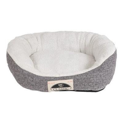 Classic Linen & Microsherpa Cuddler Bed - Grey