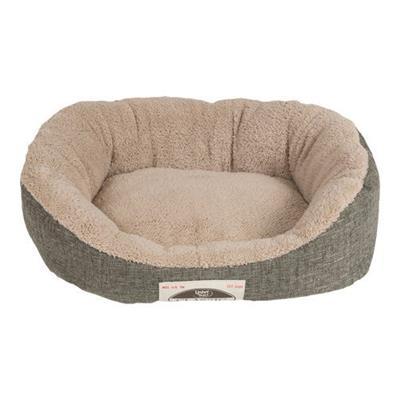 Classic Linen & Microsherpa Cuddler Bed - Green