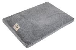 Vintage Quilted Microsuede Gusset Bed - Grey