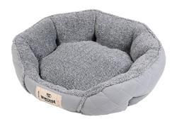 Vintage Quilted Microsuede Cuddler - Grey