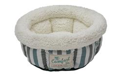 Plaid Cloud Small Dog/Cat Bed - Turqouise/Gray