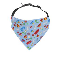 Blue Dog Bandana with bones, collar and toys |  BUY 10 GET 1 FREE