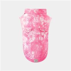 Downtown Denim Vest - Pink Tie Dye