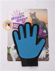 "Magic Gloves - BLUE/BLK, Soft Rubber Gloves,7""x9"""