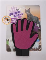 Gentle Soft Rubber, Magic Glove-Pink, Recyclable, De-Shedding Brush Glove