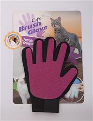 "Magic Gloves - PINK/BLK, Soft Rubber Gloves,7""x9"""