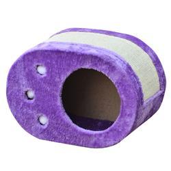 "FERVOR - Purple Paw Shaped Scratcher Box, 18x10x13"""