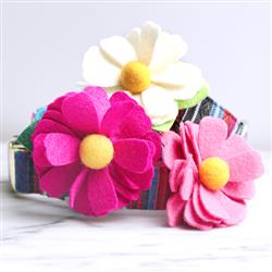 Daisy Dog Collar Flower -- 26 Colors