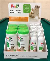 Pawz SaniPaw - 12 pc. Display (OUT OF STOCK - est. ship date 7/1/20)
