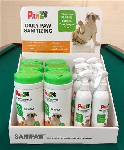 Pawz SaniPaw - 12 pc. Display