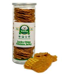 Lucky Chips Chicken Jerky Treats - Single Unit for Dropship