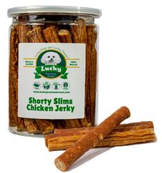 Shorty Slims Chicken Jerky Treats - Single Unit for Dropship