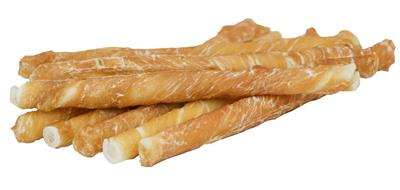 Small Dog Size - Chicken Wrapped Rawhide Dog Treats - Single Unit for Dropship