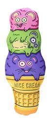 FAT CAT Kitty Kickz Mice Cream Cone Cat Toy