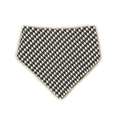 Black/White Houndstooth & Polka Dots Reversible Bandana
