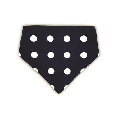 Navy/White Anchors & Polka Dots Reversible Bandana