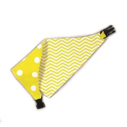 Yellow/White Chevron & Polka Dots Reversible Bandana