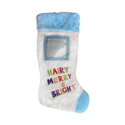"""Hairy Merry & Bright Frame Stocking 18"""" by Lulubelles"""