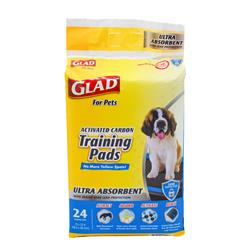 Glad for Pets Ultra-Absorbent Activated Carbon Training Pads (24 Count)