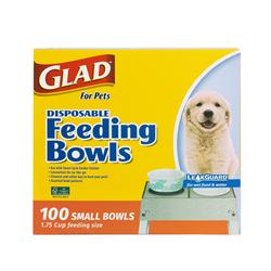 Glad for Pets Disposable Feeding Bowls (1.75 cup size / 100 Count)