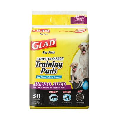 Glad for Pets Jumbo Activated Carbon Training Pads For Large Breeds (30 Count)