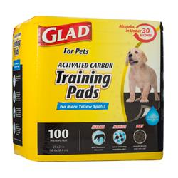 Glad for Pets Activated Carbon Training Pads for Puppies and Senior Dogs (100 Count)