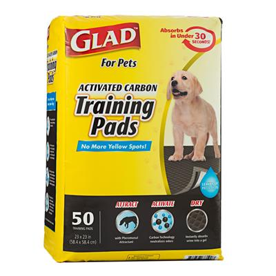 Glad for Pets Activated Carbon Training Pads for Puppies and Senior Dogs (50 Count)
