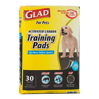 Glad for Pets Activated Carbon Training Pads for Puppies and Senior Dogs (30 Count)